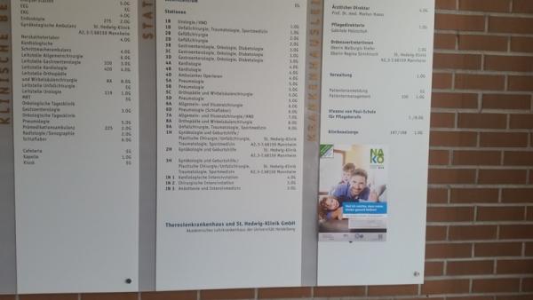 NAKO-Plakat im Theresienkrankenhaus Mannheim
